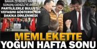Bakan Zeybekcinin yoğun hafta sonu ziyareti
