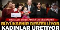 Büyükşehir'den kadınlara dev destek