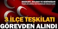 MHPde Bozkurt, Buldan ve Serinhisar teşkilatları görevden alındı