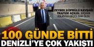 Zeybek Köprülü Kavşağı açıldı
