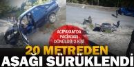 Acıpayam'da araç şarampolden sürüklendi, 2 kişi yaralandı