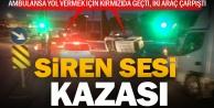 Ambulansa yol verme kazası
