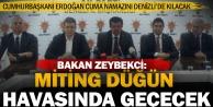 Bakan Zeybekci: Denizli büyük buluşmaya hazır