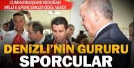 Cumhurbaşkanı Erdoğandan başarılı sporculara ödül