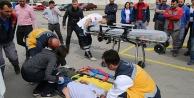 Büyükşehir Ulaşım A.Ş.den deprem ve yangın tatbikatı