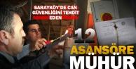 Sarayköy'de 12 asansöre mühür