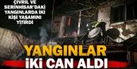 Serinhisar ve Çivrildeki yangınlarda iki kişi öldü