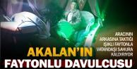Akalan'da faytonlu Ramazan davulcusu