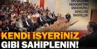 DTO Başkanı Erdoğandan gençlere tavsiyeler