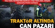 Kale Narlı'da traktör kazası