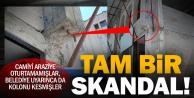 Allı Cami inşaatında skandal