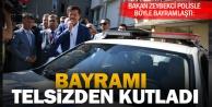 Bakan Zeybekci, polisin bayramını telsizle kutladı