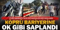 Çivril Kavakköyde feci kaza: İki yaralı