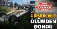Çivrildeki kazada 4 kişilik aile ölümden döndü