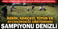 Denizli, bazı tarım ürünlerinde Türkiye şampiyonu