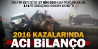 Denizlide bir yılda 17 bin 553 kazada, 141 kişi yaşamını yitirdi