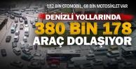 Denizlide toplam araç sayısı 380 bin 178 oldu
