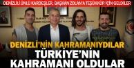 Denizlili Ünlü Oyunculardan ve Mehmet Çağrı Sebzeci#039;den Başkan Zolana Teşekkür Ziyareti