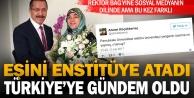 Rektör Bağın eşini enstitü sekreterliğine ataması sosyal medyanın gündeminde