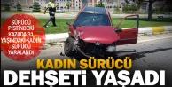 Sürücü pistindeki kazada bir kişi yaralandı