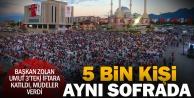 Umut 3'te 5 bin kişi ile iftar bereketi