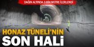 Honaz Tünelinde sağ ve sol iki tüpte 3 bin metre ilerlendi