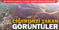 Sarayköy'deki orman yangınının drone görüntüleri
