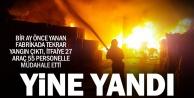 Beysu atık fabrikasında bir ay arayla ikinci yangın