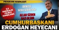 Cumhurbaşkanı Erdoğana filmli karşılama