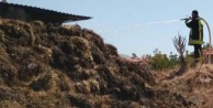 5 ton saman yandı