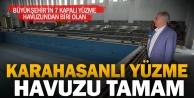 Karahasanlı Kapalı Yüzme Havuz#039;nda sona gelindi