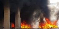 Üçgen Çarşısında üstübü deposunda yangın