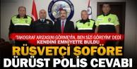 Rüşvet teklifini ihbar eden polislere takdirname
