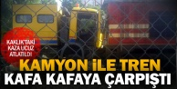 Kaklıktaki tren kazası ucuz atlatıldı