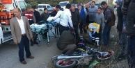 Otomobille motosiklet çarpıştı: 2 yaralı