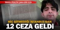 Denizlili pideciye hiç gitmediği İstanbul'dan ceza geldi