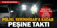 Polisin ihtarına uymayıp, kilometrelerce kovalamacaya karıştılar