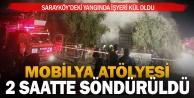 Sarayköy'de mobilya atölyesinde yangın