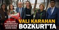 Vali Hasan Karahan Bozkurt'u ziyaret etti, uyuştucuyla mücadeleye destek verdi