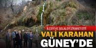 Vali Hasan Karahan Güney'i ziyaret  etti
