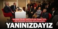 Başkan Zolan#039;dan Gazeteciler Cemiyetine ziyaret