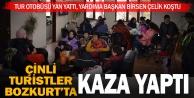 Çinli turist kafilesi Bozkurt'ta kaza yaptı
