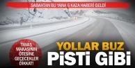 Kar ve soğuk hava yollarda tehlike yarattı
