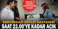 Servergazi Devlet Hastanesinde saat 22.00ye kadar poliklinik uygulaması başladı