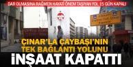 Çınar'ı Çaybaşı'na bağlayan yol inşaat nedeniyle 15 gün kapalı
