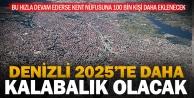 Denizli, 2025te 100 bin kişi daha kalabalık olacak