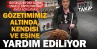 Görme engelli simitçi Mehmet Amcaya yardım ediliyor, maddi yardım için de düğmeye basıldı