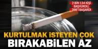 Sigara bırakma polikliniğine başvuran 2 bin 134 kişiden 1736#039;sı başaramadı