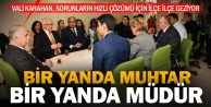 Vali Karahan müdürlerini de alıp Bozkurt ve Çardak'a gitti