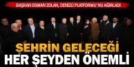 Başkan Osman Zolan, Denizli Platformu#039;nu ağırladı